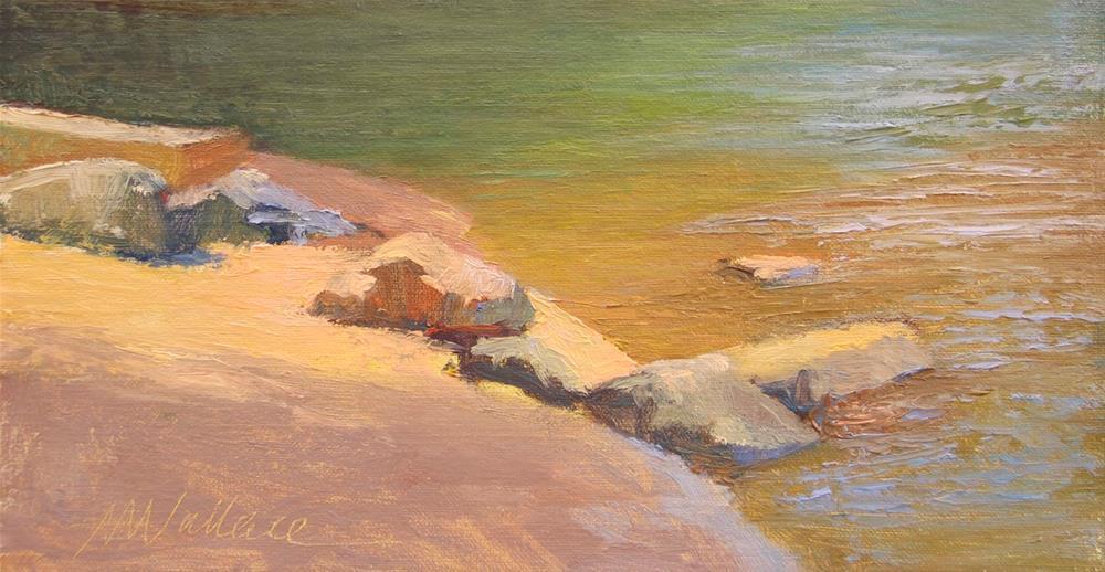 """""""#76 riverside rocks"""" original fine art by Nancy Wallace"""