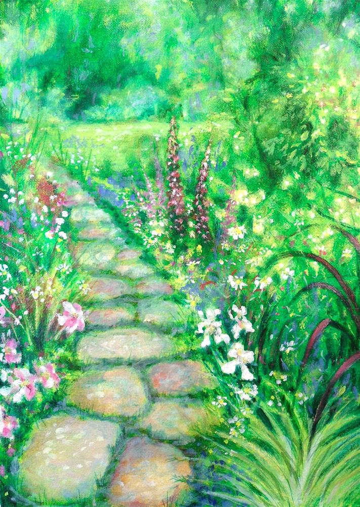 """Summer Path"" original fine art by Karen Roncari"
