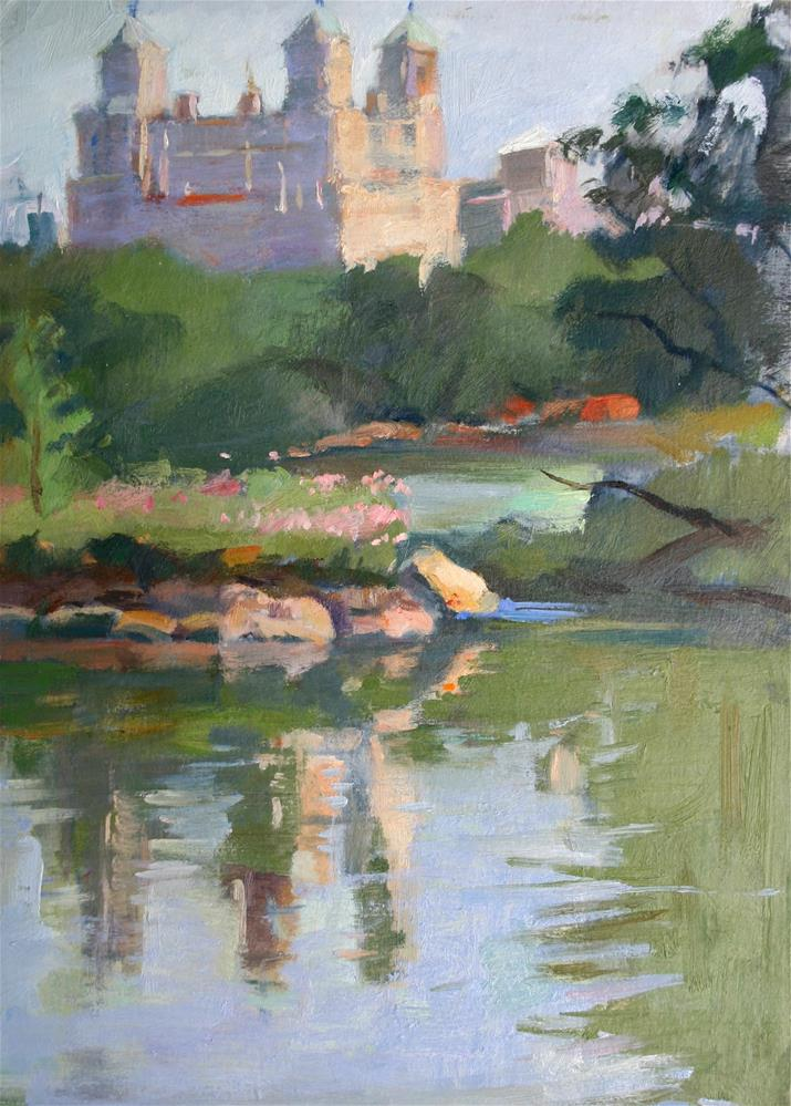 """Central Park Lake"" original fine art by Ann Buenaventura"