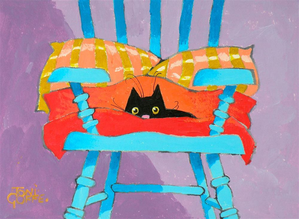 """My Blue Chair"" original fine art by Toni Goffe"