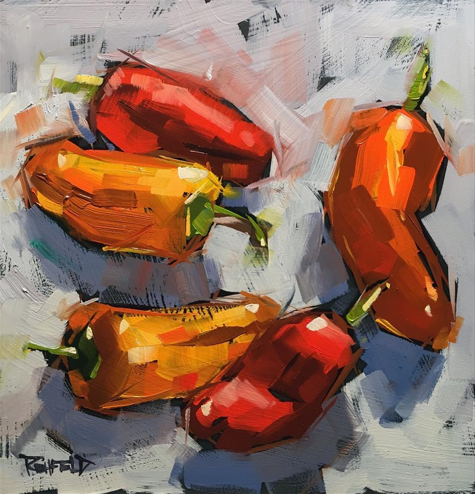 """Sweet Peppers"" original fine art by Cathleen Rehfeld"