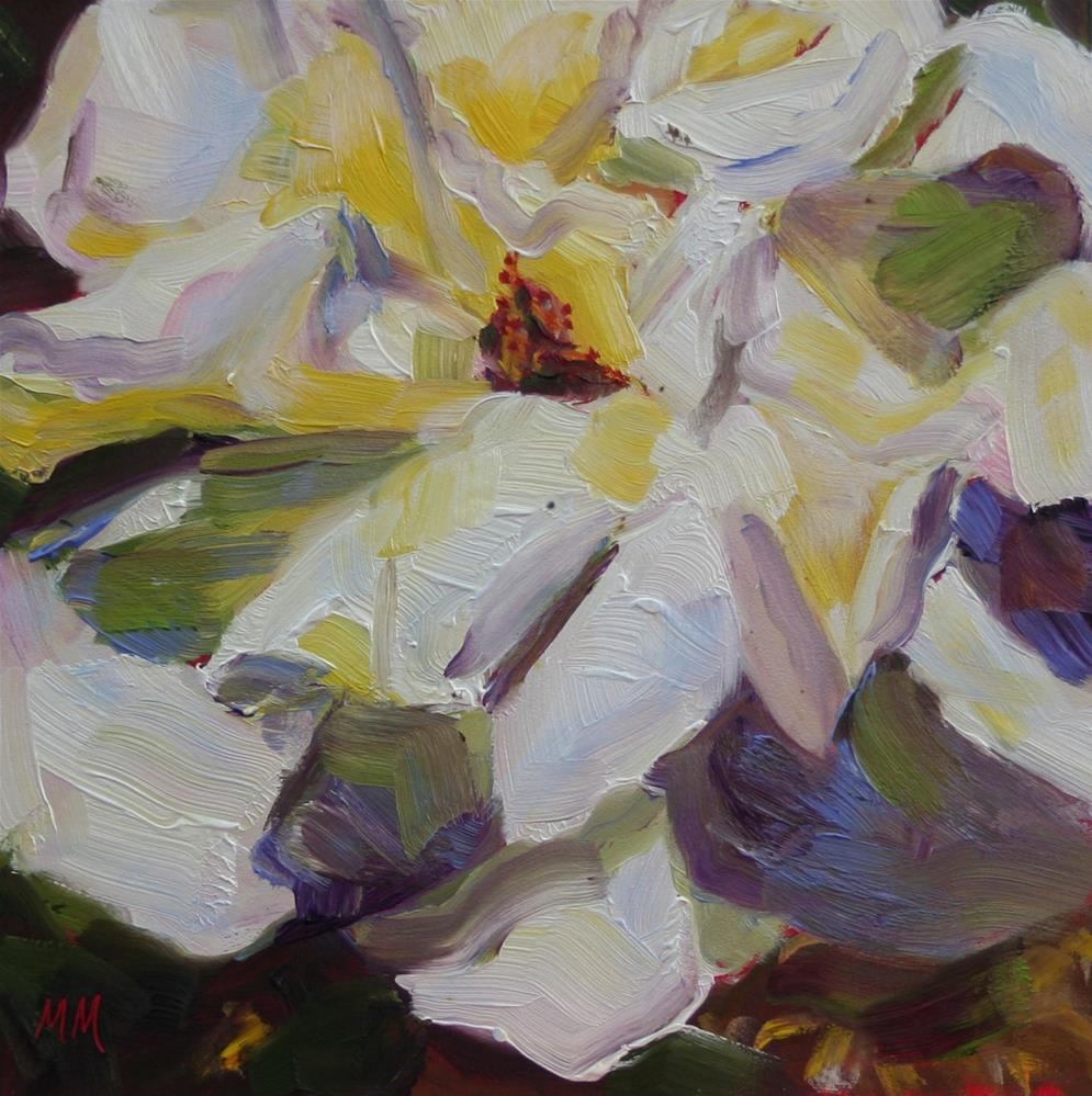 """White Rose"" original fine art by Maria McNitt"