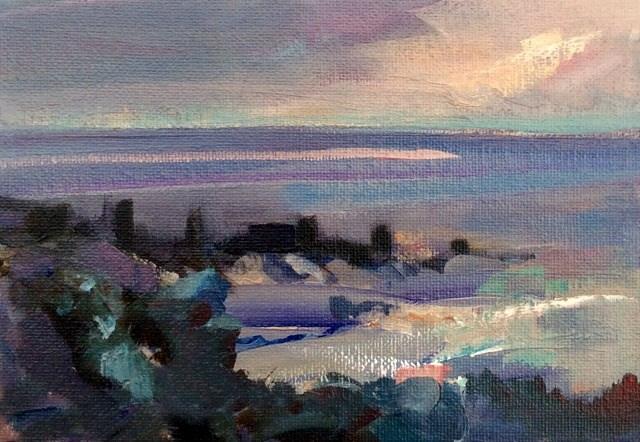 """""""Ebbing Tide"""" original fine art by Anne Wood"""