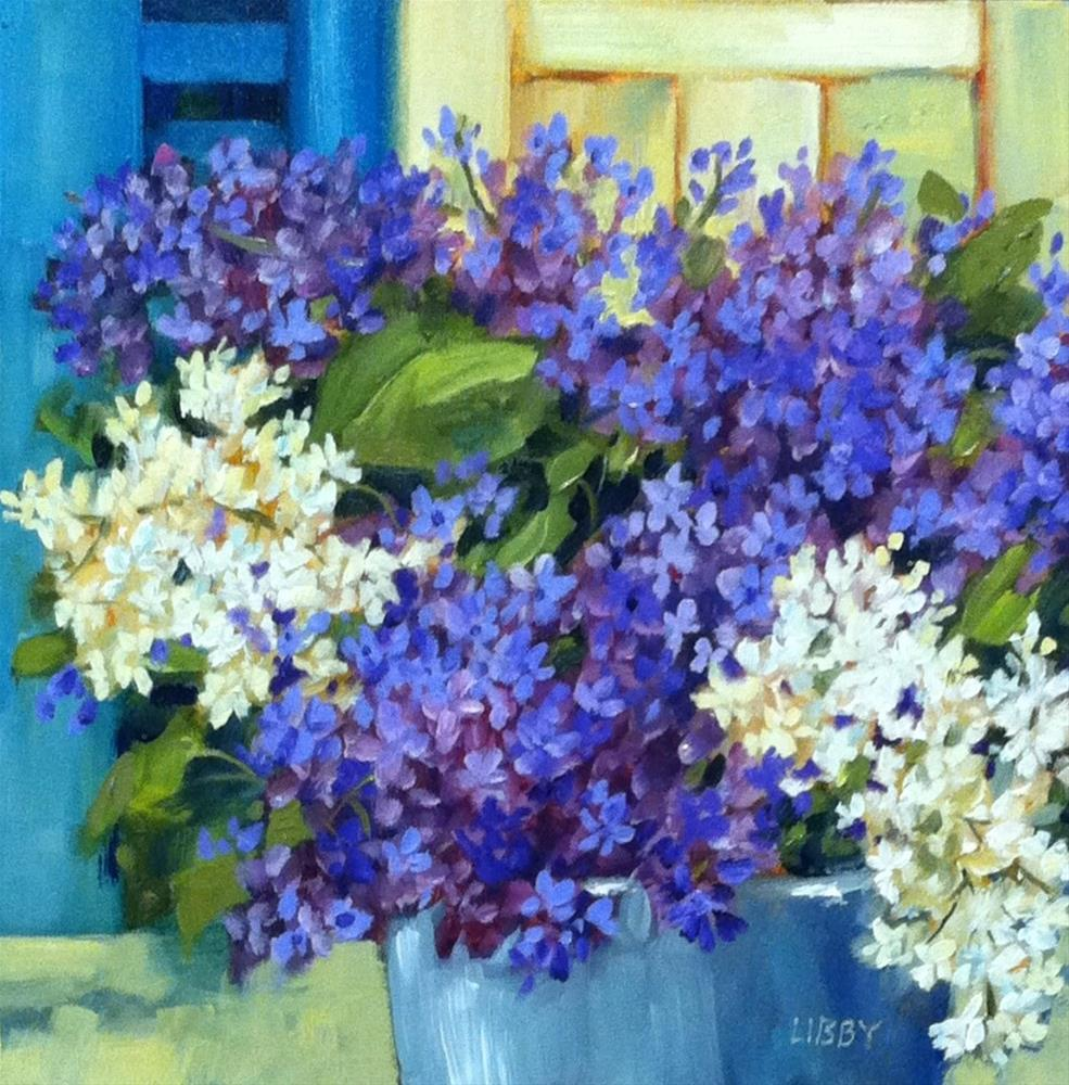 """Lilacs by the Door"" original fine art by Libby Anderson"