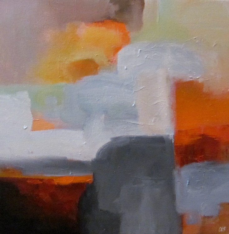 """Sunrise Over the City"" original fine art by ~ces~ Christine E. S. Code"
