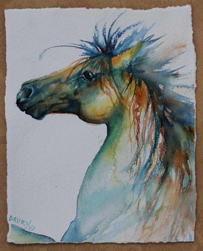 """""""Wild Thing"""" original fine art by Colleen Drury"""