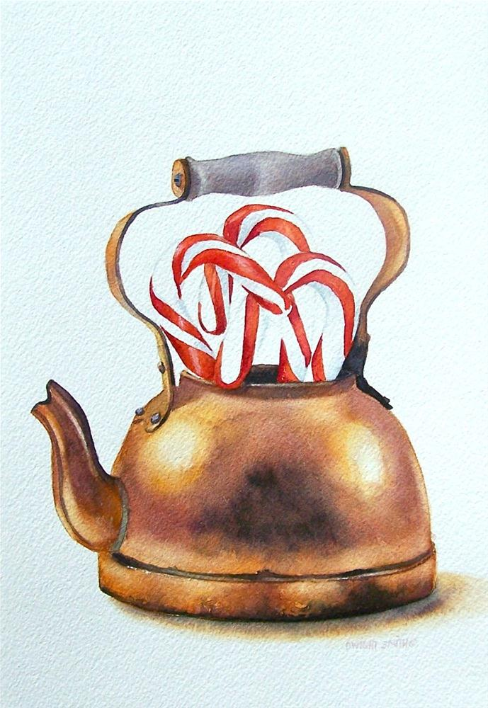 """PEPPERMINT TEA "" original fine art by Dwight Smith"