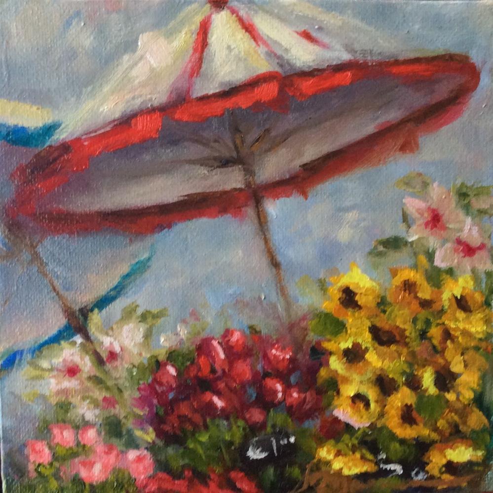 """""""Market Place"""" original fine art by Susie Monzingo"""