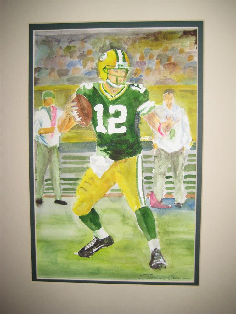"""Green Bay Football"" original fine art by Susan Brens"