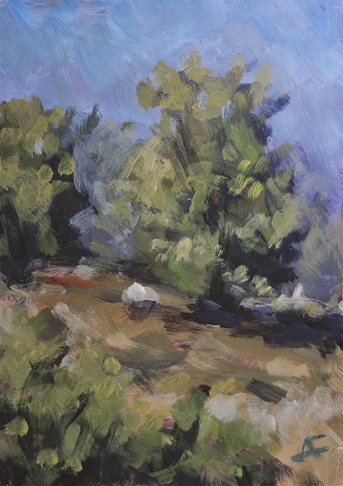 """""""Foggy Trees"""" original fine art by J. Farnsworth"""