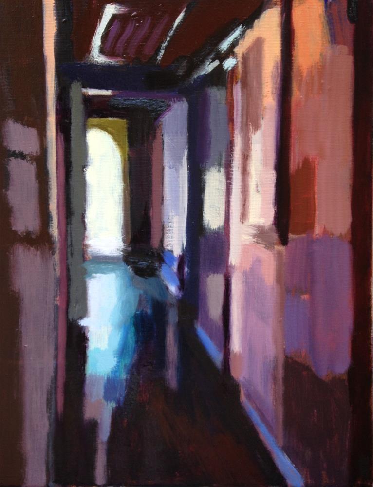 """Down The Hallway, Out the Door II"" original fine art by Pamela Hoffmeister"