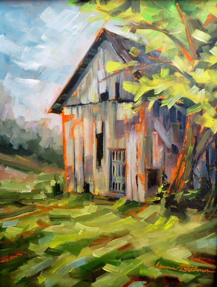 """Old Barn on St. Charles Street"" original fine art by Tammie Dickerson"