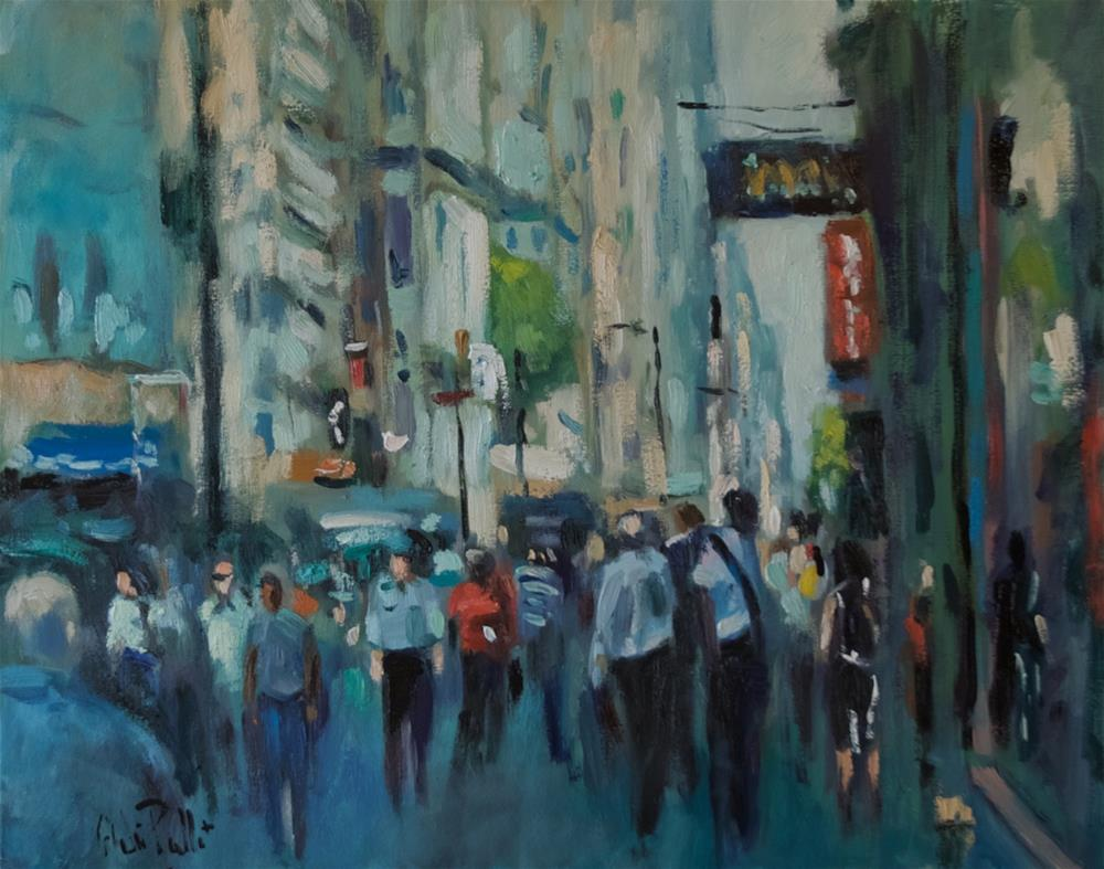 """Financial Area NYC"" original fine art by Andre Pallat"