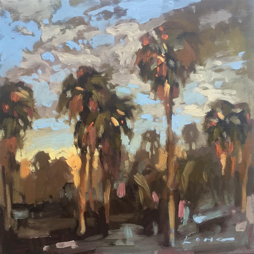 """SO.CAL Palms"" original fine art by Chris Long"