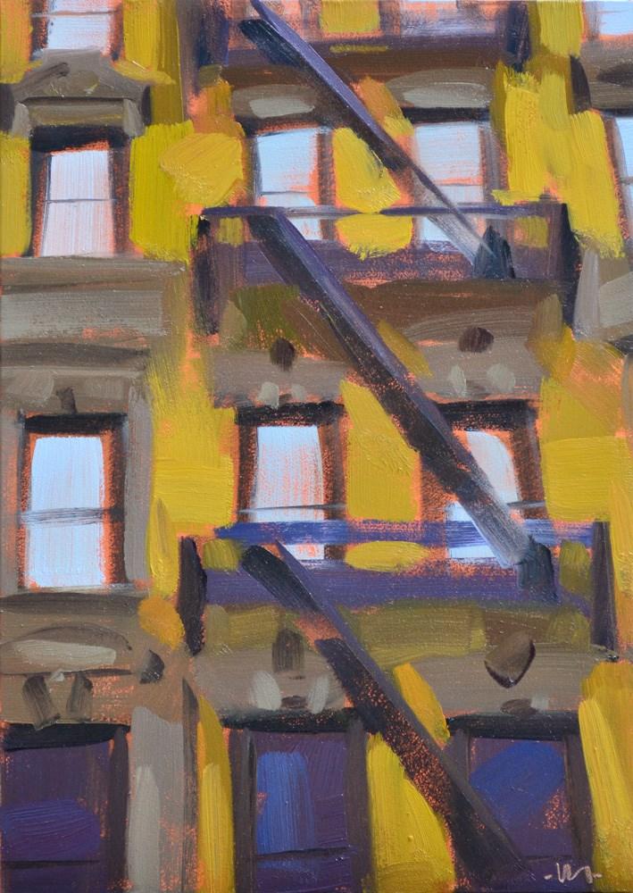 """New York Windows"" original fine art by Carol Marine"