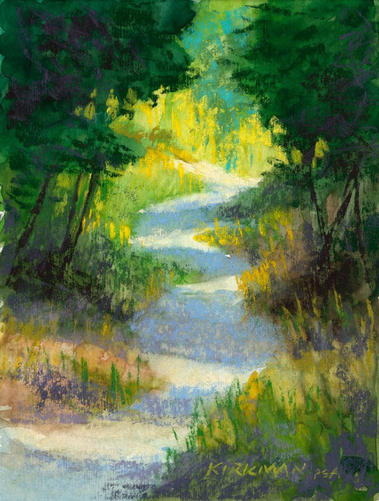 """Park Trail #23"" original fine art by Rita Kirkman"