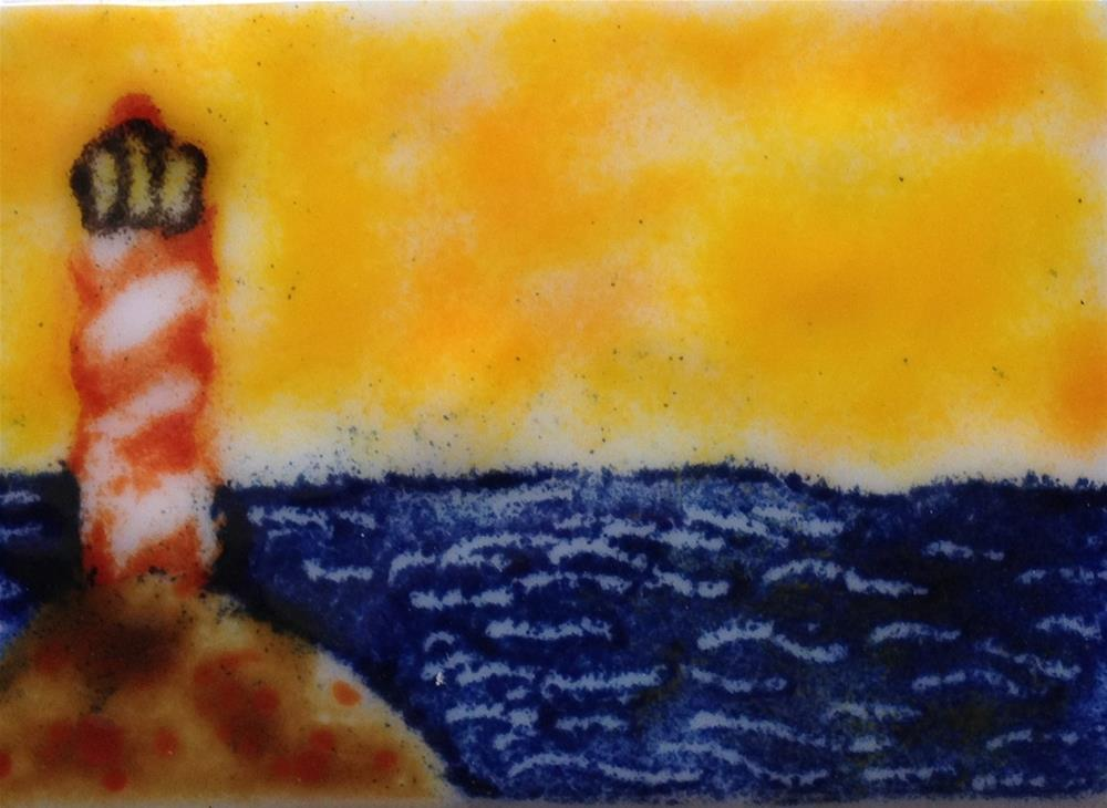 """Lighthouse Rock"" original fine art by Kristen Dukat"