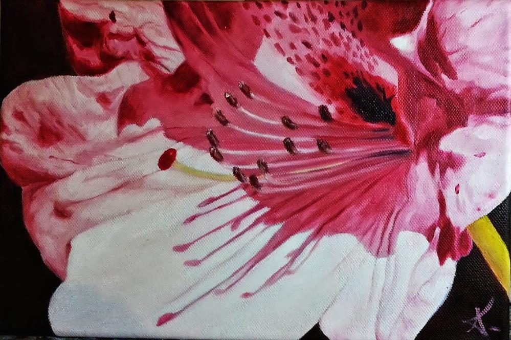 """Rhododendron flower"" original fine art by Konstantia Karletsa"