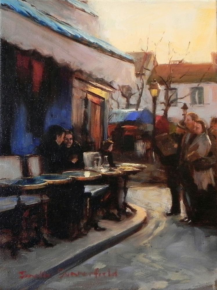 """Cafe in Montmartre II"" original fine art by Jonelle Summerfield"