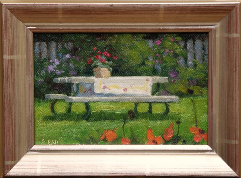 """Summer Picnic 4x6"" original fine art by Sharon Will"