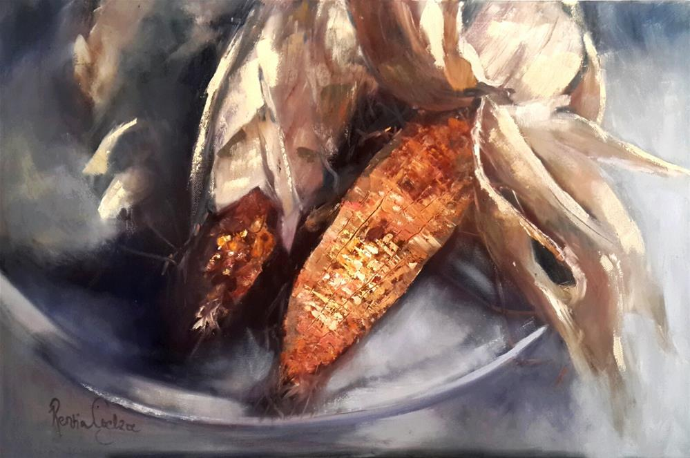 """Good harvest"" original fine art by Rentia Coetzee"