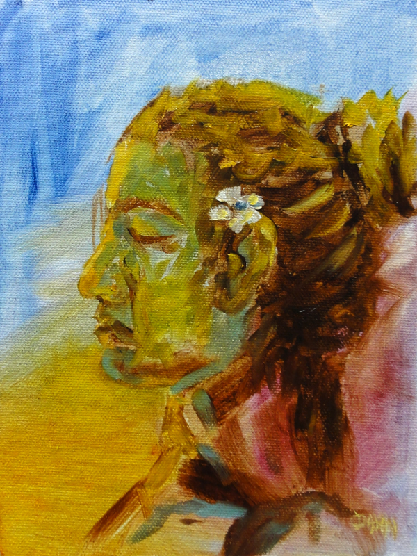 """Portrait Of Alea I"" original fine art by Dalan Wells"