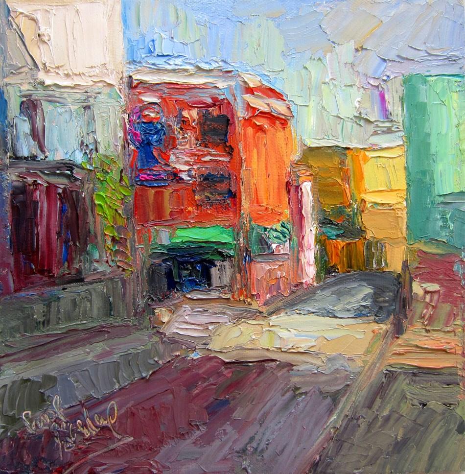 """The Must, Winston St"" original fine art by Carol Steinberg"