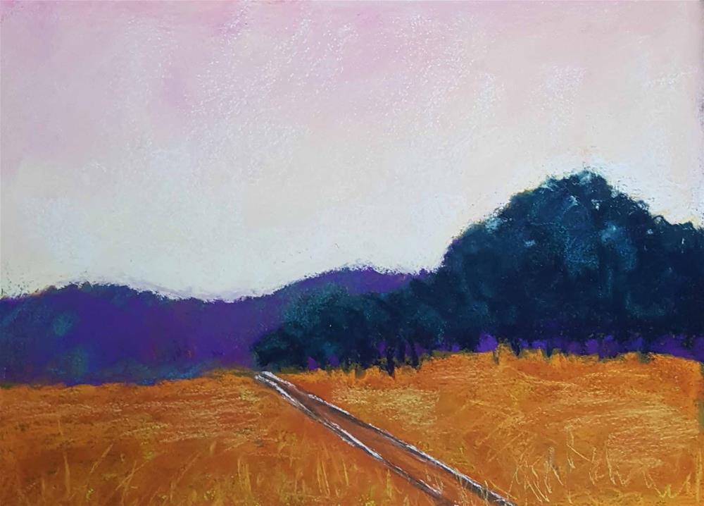 """Marathon Sunrise"" original fine art by Anna Lisa Leal"