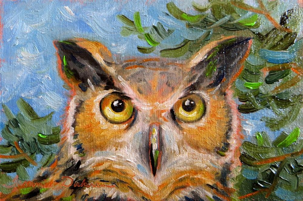 """Great Horned Owl"" original fine art by Tammie Dickerson"