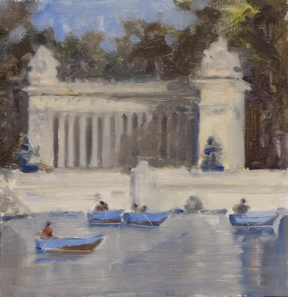 """Madrid boat park"" original fine art by Blake Hurt"