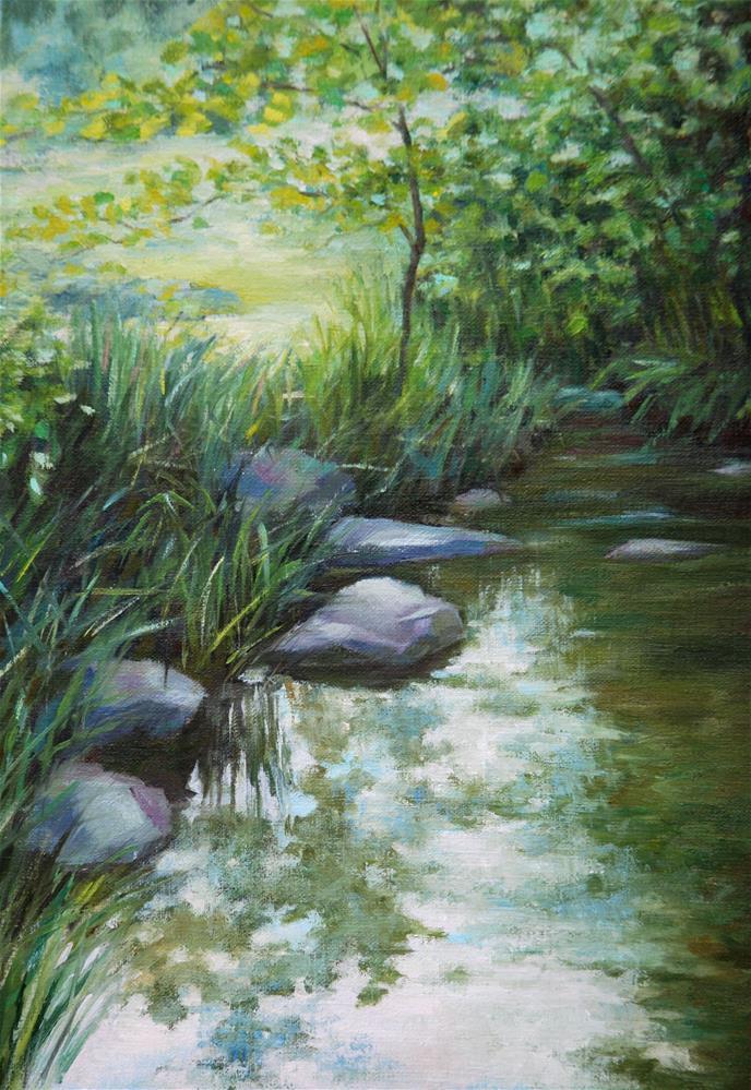 """Quiet river"" original fine art by Olga Touboltseva-Lefort"