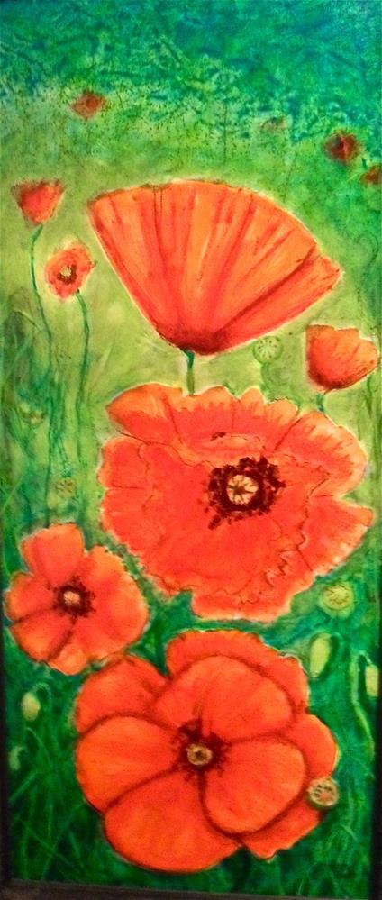"""Poppy Field"" original fine art by Karen Roncari"