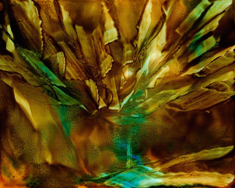"""Alcohol ink art. Crystal Cavern"" original fine art by Korinne Carpino"