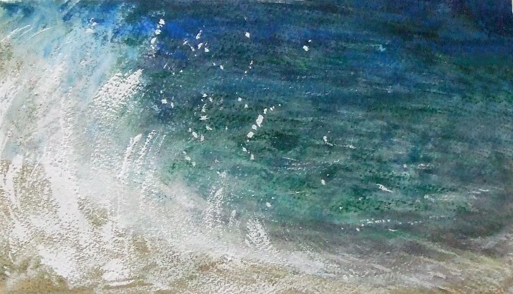 """""""Private beach"""" original fine art by Mitsuru Cope"""