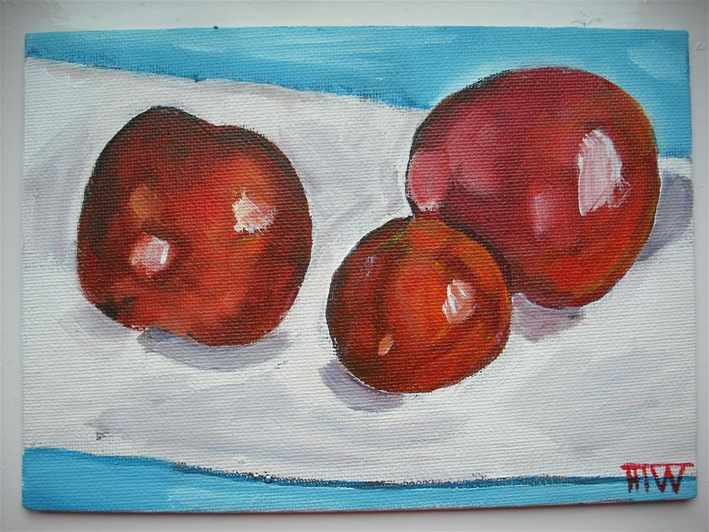 """Tomatoes - Three's A Crowd"" original fine art by Heather Whiting"