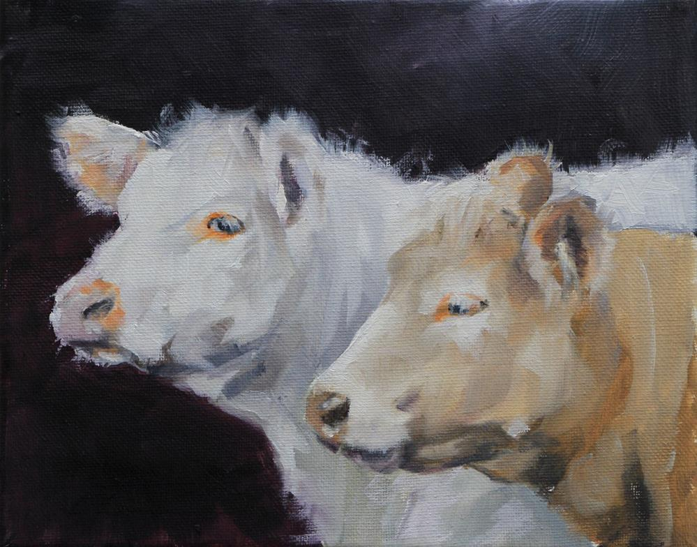 """Cows"" original fine art by Clair Hartmann"