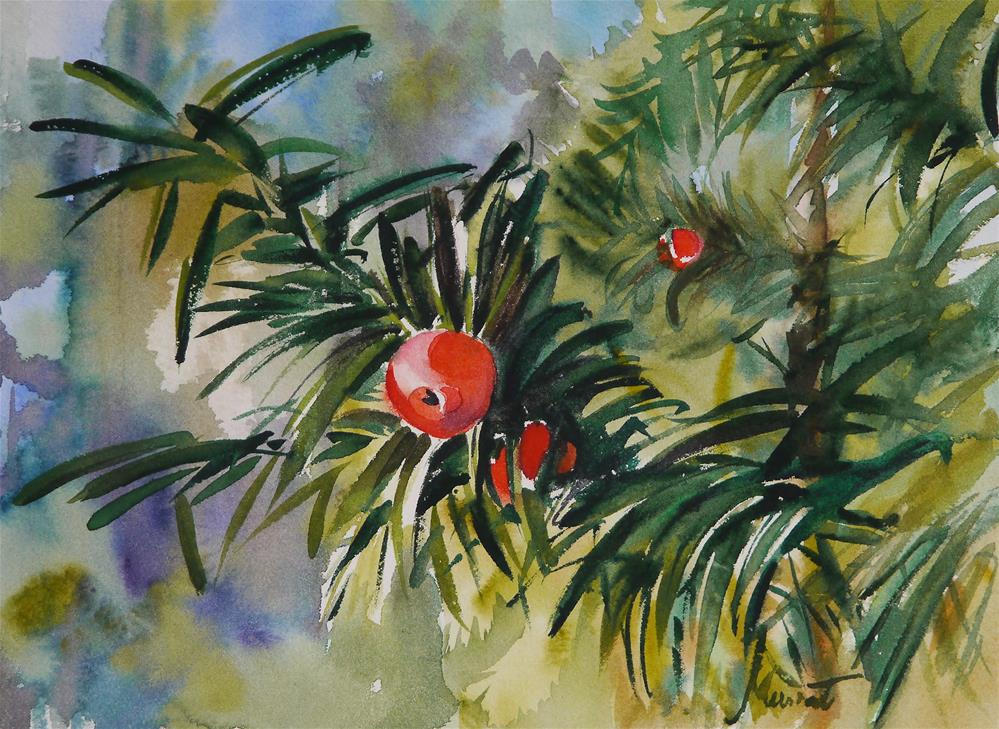 """yew"" original fine art by Beata Musial-Tomaszewska"