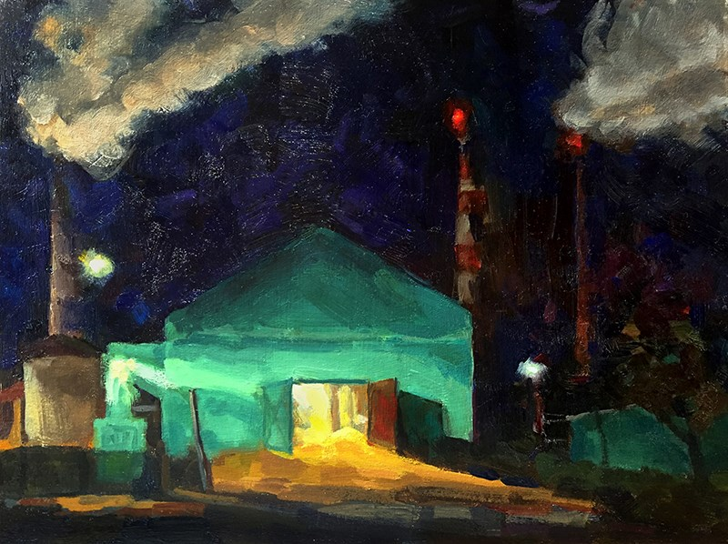 """Sugar Mill Nocturne"" original fine art by Joanne Hopper"