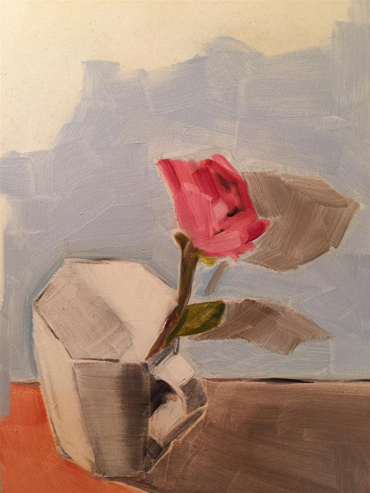 """203 Flower in a Mug"" original fine art by Jenny Doh"