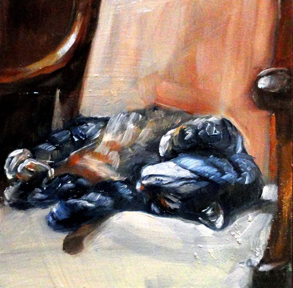 """Kitty Yoga"" original fine art by Cietha Wilson"