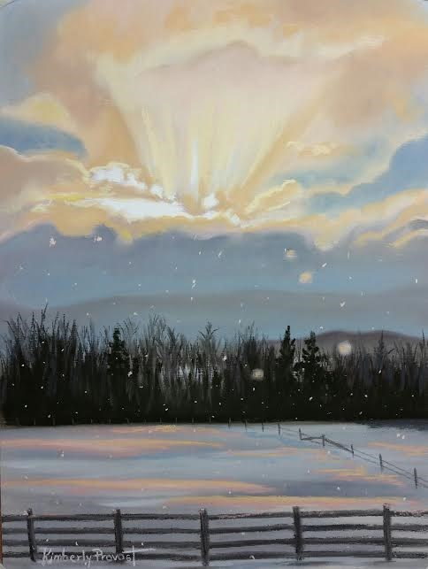 """December's Gold"" original fine art by Kimberly Provost"