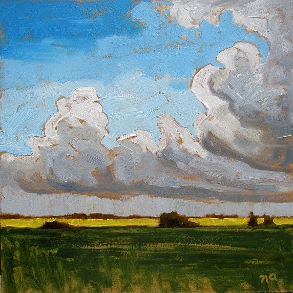 """Cloud Swell Over Canola"" original fine art by Nicki Ault"