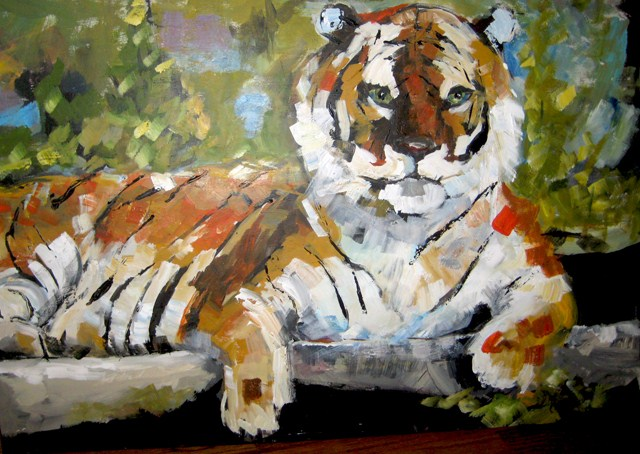 """Big Tiger"" original fine art by Marcia Hodges"