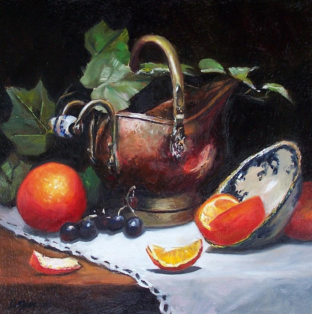 """""""Old World Still Life"""" original fine art by Donna Munsch"""