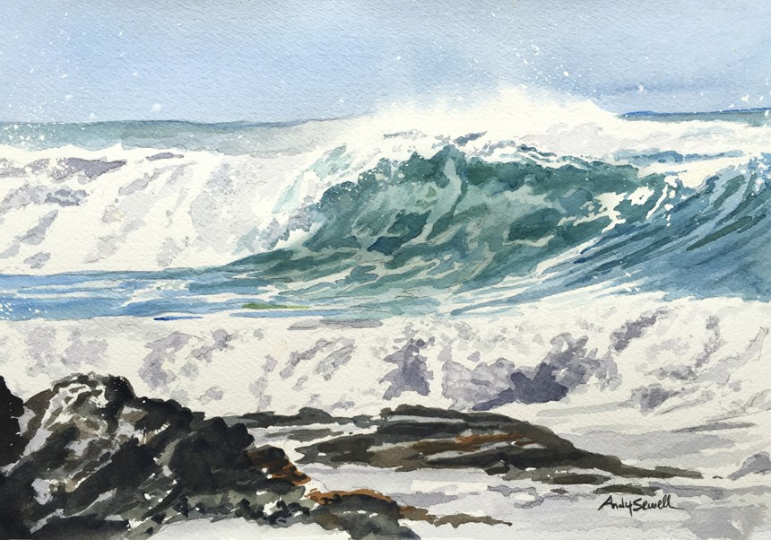 """Oregon Wave"" original fine art by Andy Sewell"
