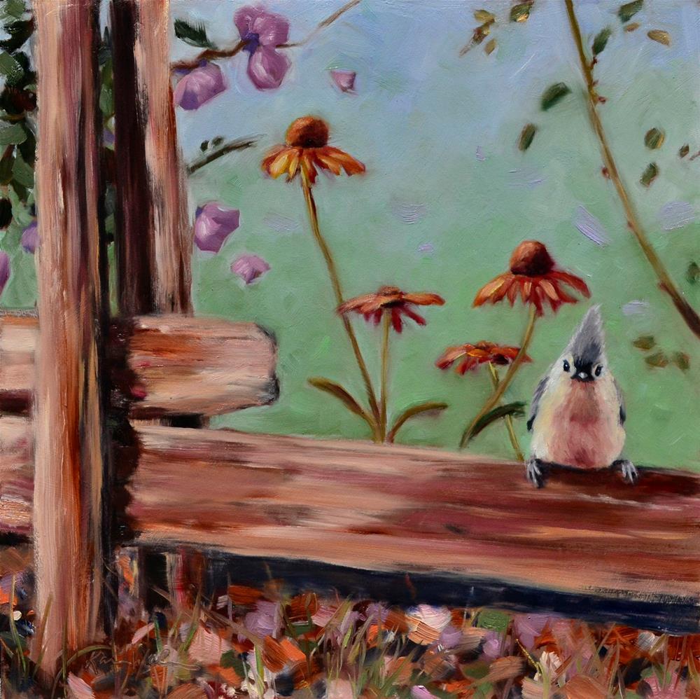 """Tiny Tufted"" original fine art by Karen Weber"