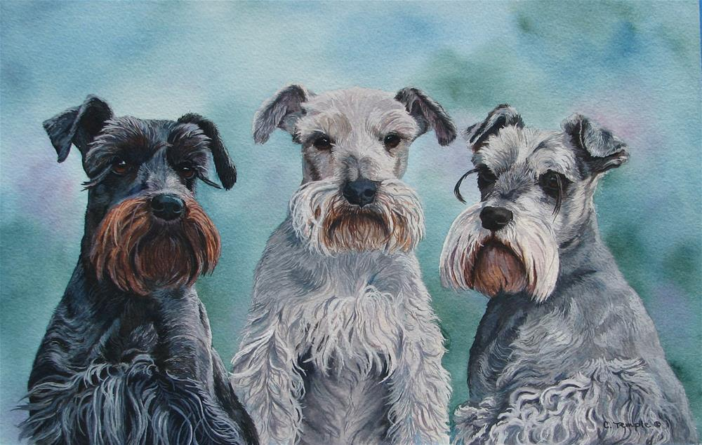 """Jasmine, P.C., and Mya"" original fine art by Catherine Temple"
