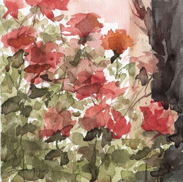 """""""flores 8"""" original fine art by Emilio López"""