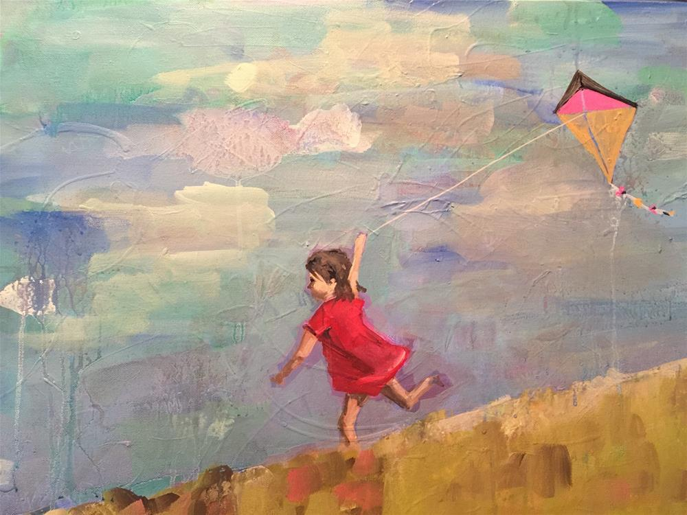 """441 Flying Her Hope"" original fine art by Jenny Doh"