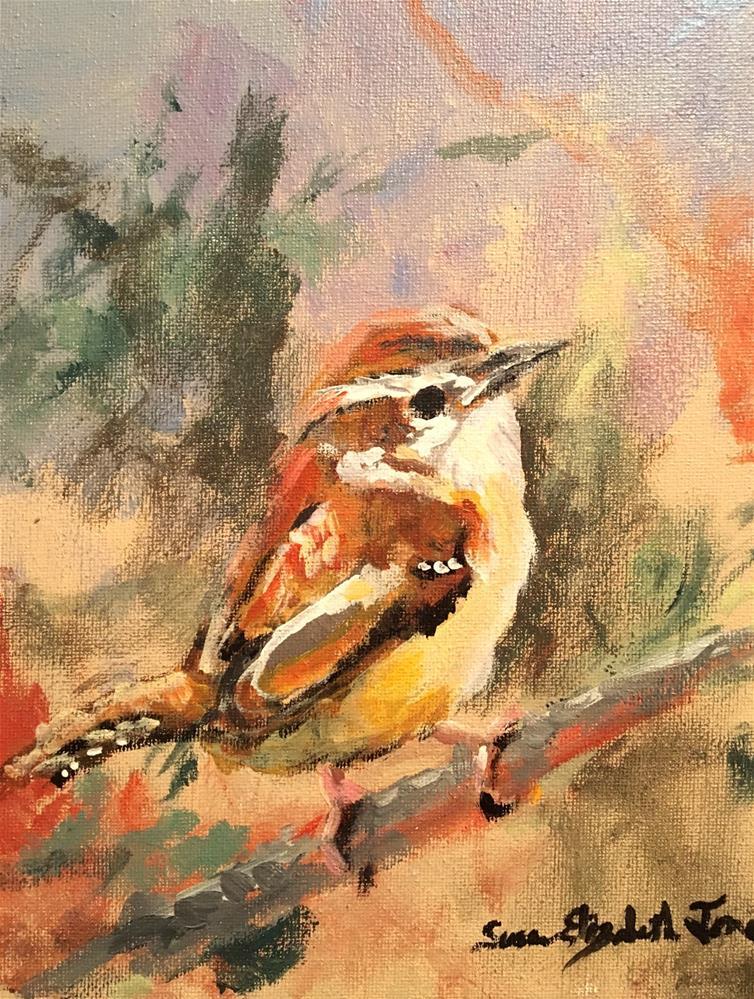 """House Wren"" original fine art by Susan Elizabeth Jones"